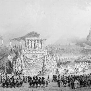 1840년 12월 15일 나폴레옹의 유해 파리 도착