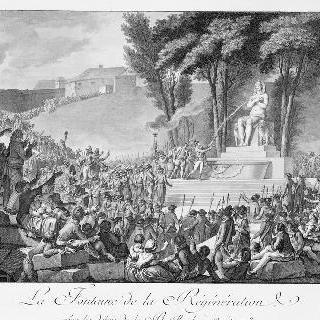 갱신의 분수전, 바스티유의 잔해, 1793년 8월 10일