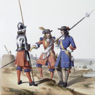 스위스 용병 수비 연대, 프랑스 수비 연대 : 창병, 근위 기병, 중사, 1667년