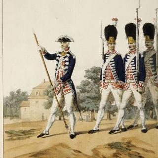 루이 13세 치하의 프랑스 수비 연대, 1786년