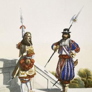 루이 14세 하의 왕의 저택 : 친위대와 망슈 수비대, 1667년