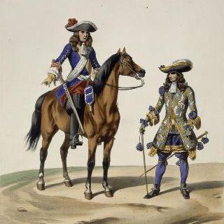 왕실 부대 장교와 근윈대, 루이 14세, 1676년