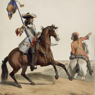 기병대 깃발과 용기병, 루이 14세, 1667년