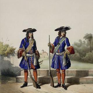 왕의 저택, 루이 14세, 1688년 : 정문 수비대와 호위대