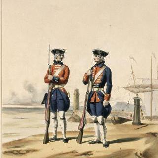 해군 부대 : 카레르 연대와 인도 부대