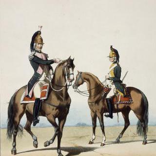 용기병들, 루이 16세, 1686년