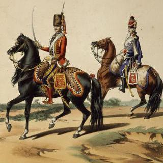 경기병 : 연대장 연대, 대령과 베르슈네 연대, 병사