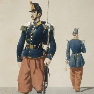 일선 부대, 아프리카 경보병대, 병사와 장교