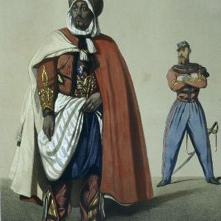 일선 부대, 터키 기병, 아라비아 장교, 프랑스 장교