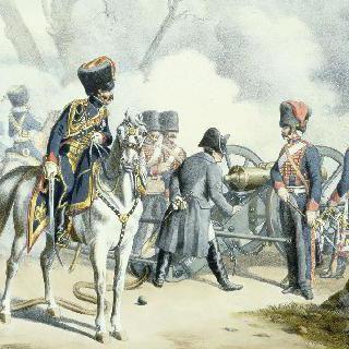 1804년에서 1815년. 황실 수비병. 기마 포병대. 야전 복장