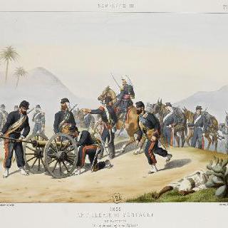산악 포병 중대, 알제리 야전, 1855