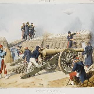 세바스토폴 공략, 오른쪽 공격, 포열 33번, 1855년 8월