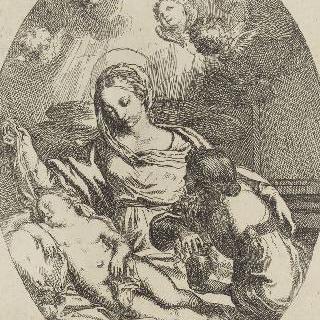 생트 막달라 마리아에게 잠들은 예수를 보여주는 성모