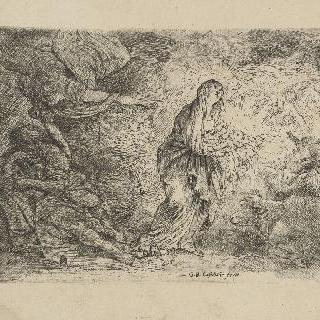 요셉을 깨워 이집트로 달아날 것을 명하는 천사