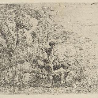 말을 탄 젊은 목동