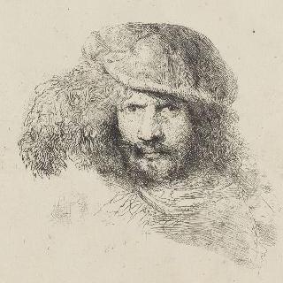자화상이라고 불리는 깃털 모자를 쓴 남자 초상화