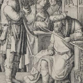 사울 왕 앞에서 하프를 연주하는 다윗 ; 첫 번째 판