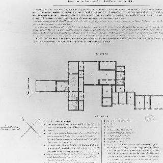 세인트 헬레나 섬의 롱우드 저택 도안, 1816년