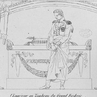 프레데릭 대제의 묘에 있는 황제