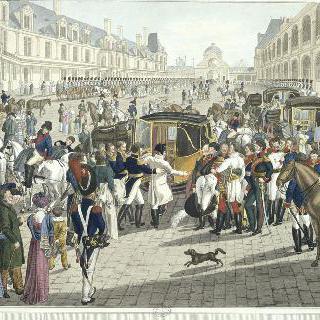 엘바 섬으로 출발하는 나폴레옹, 1814년 4월 20일