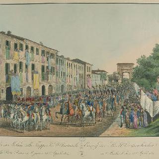 오스트리아 군대의 밀라노 입성, 1814년 4월 28일