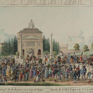 1814년 전장 후, 비엔나로 입성하는 오스트리아 프랑수아 황제 폐하