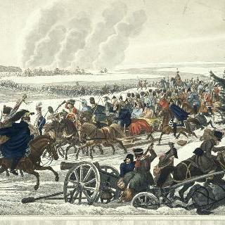 1812년 11월 26일 베레지나를 통과해 후퇴하는 프랑스 군대