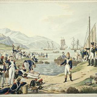 앙티브 근처 주앙만에 상륙한 나폴레옹, 1815년 2월 28일