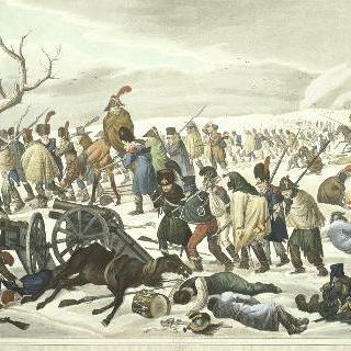 1812년 모스크바에서 후퇴하는 프랑스 군대