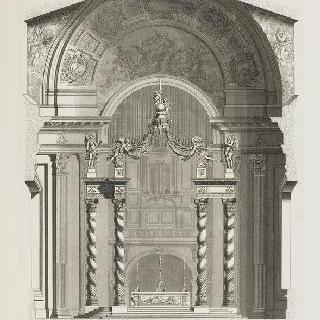 건축물과 성전 장식의 단면도와 실측 직립 단면도