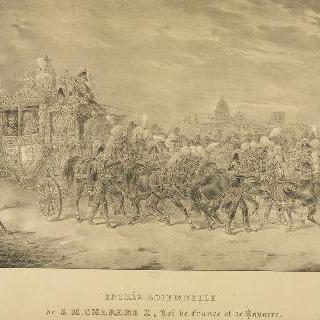 프랑스와 나바르의 왕, 샤를 10세의 성대한 입성