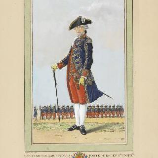 정복 차림의 왕실 정문 수비병 장교, 1786년