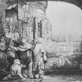 신전 문 앞에 있는 사도 베들로와 사도 요한 ; 절름발이 완치