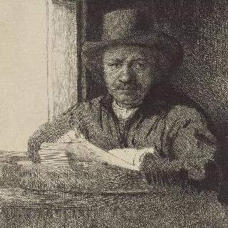 자화상 : 그림을 그리고 있는 렘브란트 ; 첫 번째 판