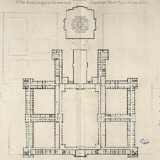 엥발리드 왕실관 일층 위의 사층 도안