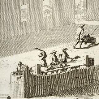 흙을 준비하는 제련소의 첫 번째 장면