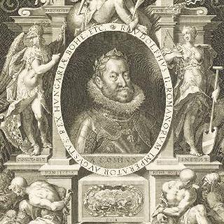 우의적 인물들에 둘러싸여 있는 루돌프 2세 (팔마 풍)