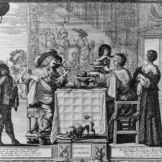 오감 연속 : 미각 ; 1635년경