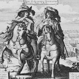 프랑스의 군사력 : 말을 탄 루이 13세와 가스통 도를레앙