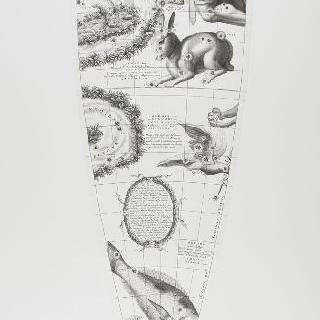 C. 코르넬리우스에 의한 1700년 천구의 모델 : 토끼 자리, 비둘기 자리 이미지