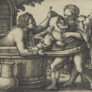 익살광대와 목욕하는 여자들