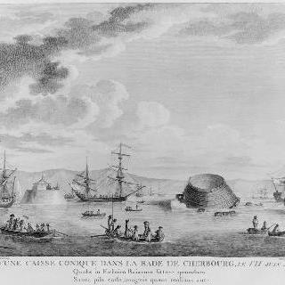 쉘부르 정박소의 원통형 탱크의 침수, 1785년 6월 7일
