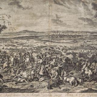 1706년 9월 7일, 튀랭 앞에서 벌어진 전투 장면
