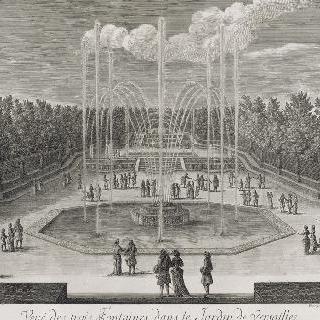 집록 : 1684년 베르사유 정원의 삼수반 총림 전경