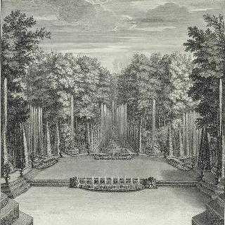 집록 : 1689년 베르사유 정원의 수상 극장 총림 전경