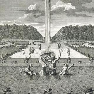 집록 : 1679년 베르사유 정원의 세이렌 못 전경