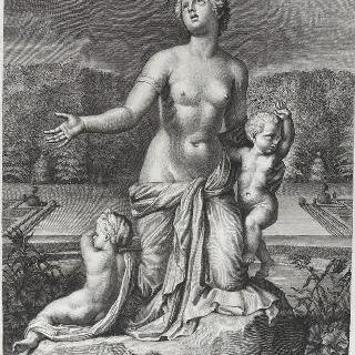 판 37 : 자신의 두 아이 아폴론과 다이아나 사이에 있는 라톤느