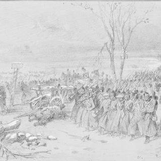 1855년 겨울 러시아 군대의 이동
