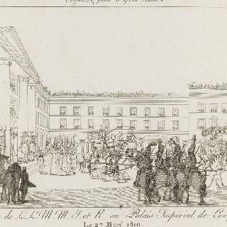 1810년 3월 27일, 마리-루이즈 콩피에뉴에 도착