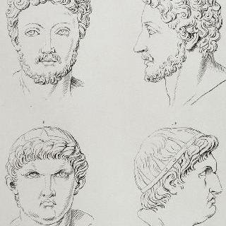 판 4 : 마르크-아우렐과 네로의 두상